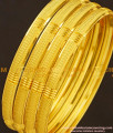 BNG181 - 2.10 Size Golden Colour Light Weight Non Guarantee Bangle Set Of 4 Pieces for Women