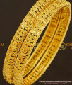 BNG185 - 2.10 Size Latest Unique One Gram Gold Guarantee Bangles Design Collections Online