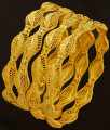 BNG190 - 2.8 Size 4 Pieces Light Weight Gold Bangles Designs Non Guarantee Bangle Low Price Buy Online