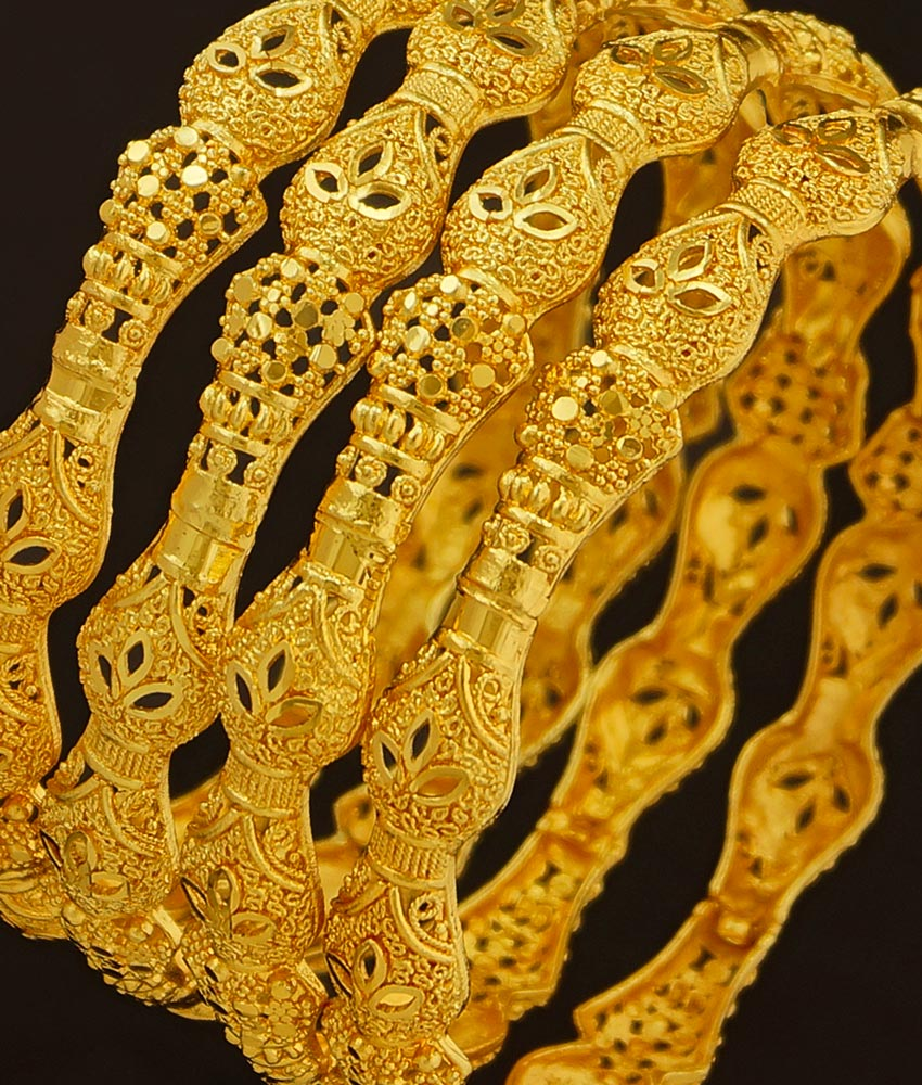 BNG191 - 2.6 Size Beautiful Light Weight Gold Bangles Designs Dye Gold Bangles Indian Wedding Bangles Set Buy Online