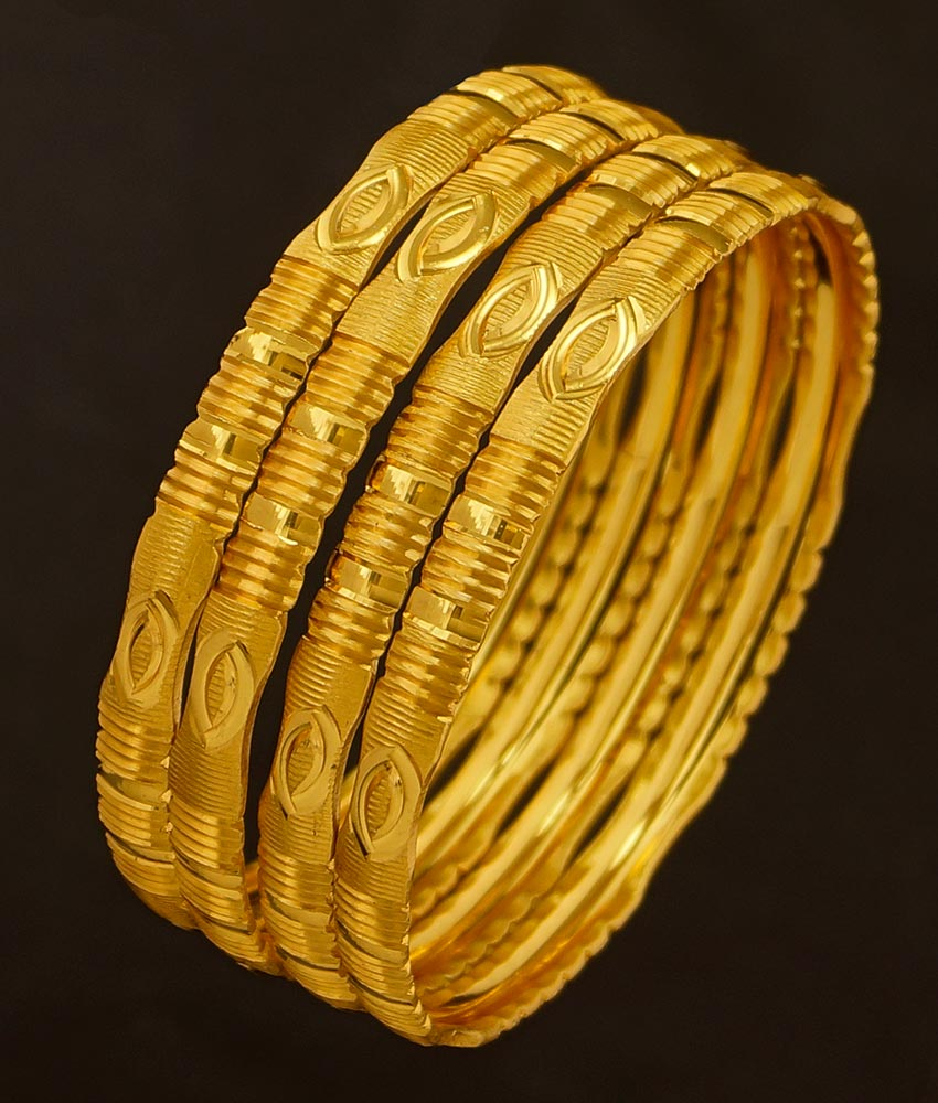 BNG192 - 2.6 Size Bridal Wear Light Weight Non Guarantee Set Of 4 Pieces Designer Bangle Buy Online