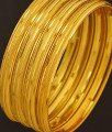 BNG194 - 2.6 Size Casual Daily Wear Gold Bangle Designs Dye Gold Set Of 4 Pieces Bangle for Ladies