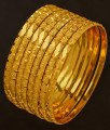 BNG195 - 2.8 Size 8 Pieces Thin Bangles Set Dye Gold Plating Bangles Designs Low Price Buy Online