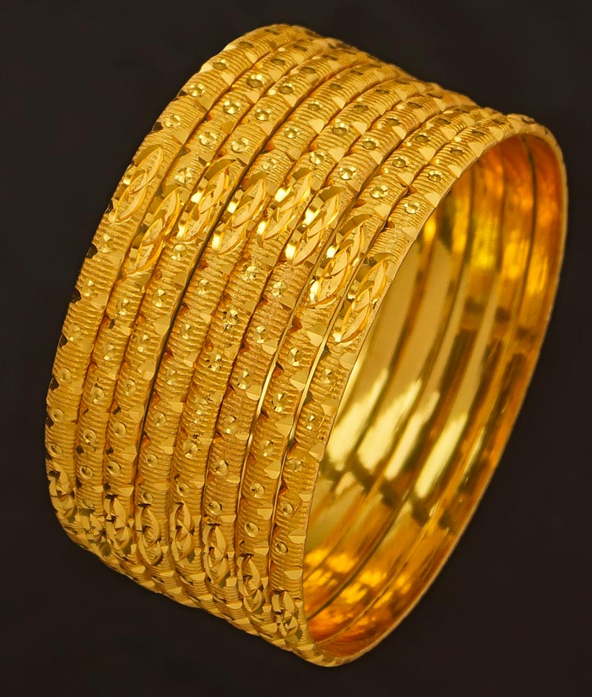 BNG196 - 2.8 Size Latest 8 Pieces Thin Bangles Set Collection Non Guarantee Bangles Online