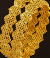 BNG200 - 2.8 Size Grand Look Stunning Gold Broad Bangle Design Dye Gold Bangles for Wedding