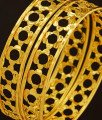 BNG206 - 2.8 Size Beautiful Flower Design Light Weight One Gram Gold Bangles for Women