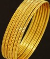Bng208 - 2.8 Size 6 Pieces Latest Daily Wear Gold Design Thin Bangles Indian Artificial Bangles Set Online