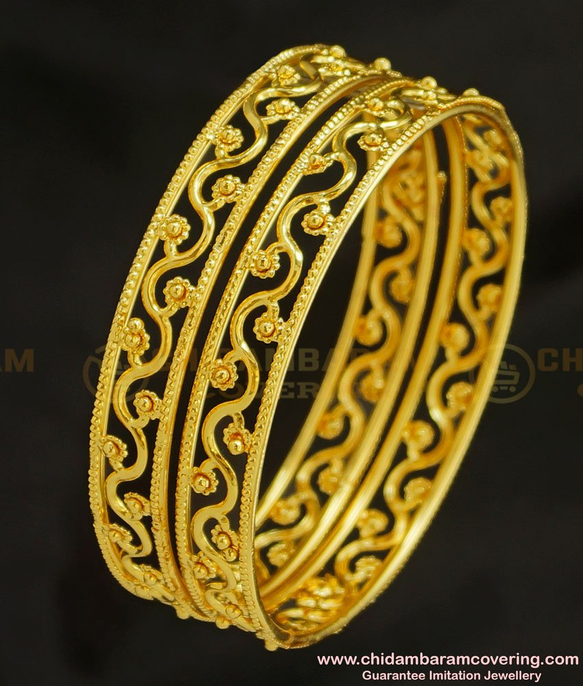 BNG221 - 2.8 Size Unique Light Weight Party Wear Bangles Design Artificial Jewellery