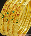 BNG234 - 2.4 Size Real Gold Colour One Gram Gold Forming Bridal Wear Enamel Stone Bangles Gold Forming Jewellery Online
