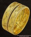 BNG237 - 2.8 Size Grand Look White Stone Party Wear Non Guarantee Bangles for Women