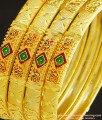 BNG241 - 2.10 Size Real Gold Design Enamel Gold Forming Designer Wedding Bangles Set Online
