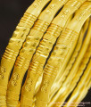 BNG266 - 2.10 Size Daily Use Gold Bangles Cutting Design Set Of 4 Pieces Bangle for Women