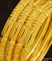 BNG269 - 2.6 Size Stunning Gold Broad Bangle Design Dye Gold Plated Bangles for Wedding