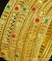 BNG289 - 2.6 Size Leaf Design Real Gold Colour Gold Forming Designer Wedding 6 Bangles Set Bridal Wear Bangles Offer Price