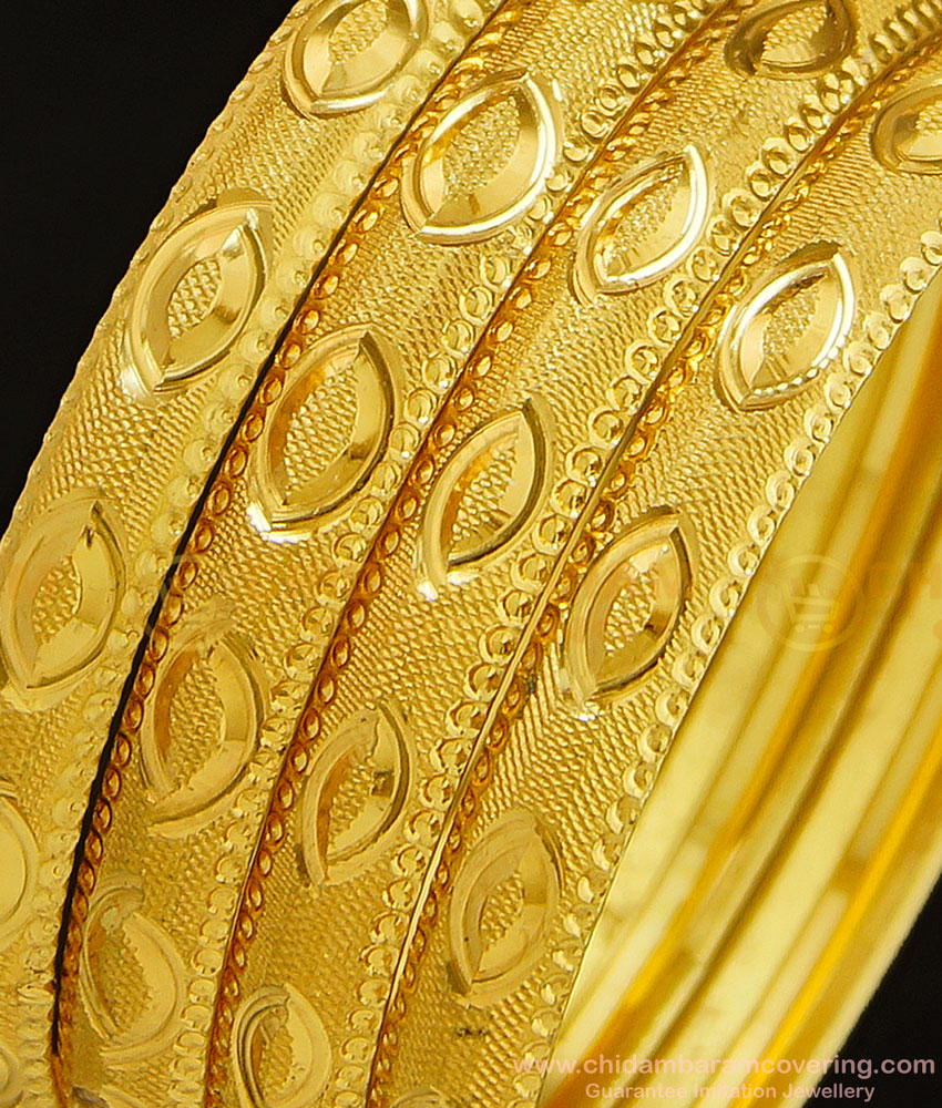 BNG295 - 2.8 Size Buy New Model Gold Imitation Bangles Design Set Of 4 Pieces for Daily Use
