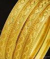 BNG296 - 2.4 Size Mansiyaorange Fancy Gold Border Bangles Design Indian Gold Imitation Jewellery