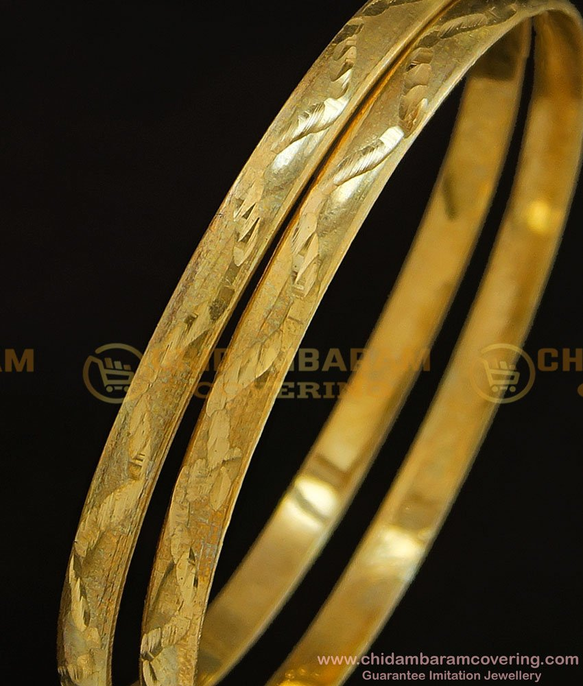 BNG301 - 2.6 Size Pure Impon Natural Colour Bangles Without Stone Daily Use Panchaloha Bangles Online Shopping