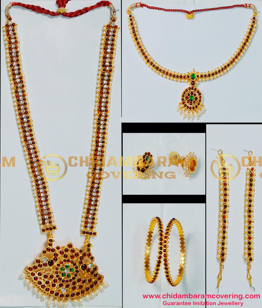 BNS02 - Bharatanatyam Indian Classical Dance Jewellery Complete Set Buy Online