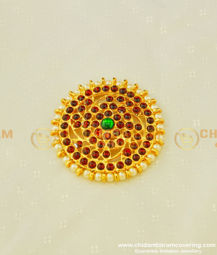 BNS11 - Bharatanatyam Hair Accessory Kemp Round Stone Rakudi For Women