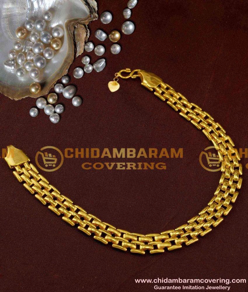 BCT03 - Watch Type Design Micro Plated Men's Bracelet Fashion Jewellery Shop Online
