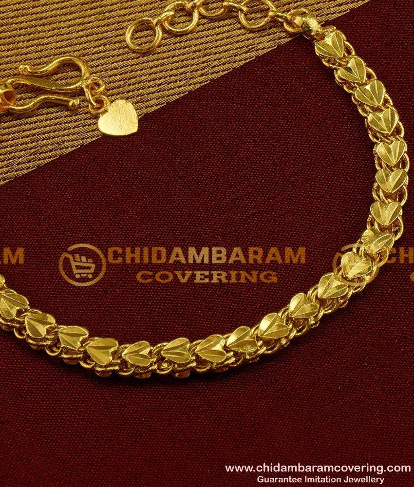 BCT07 - Pure Gold Plated Heartin Design Bracelet Buy Online Shopping