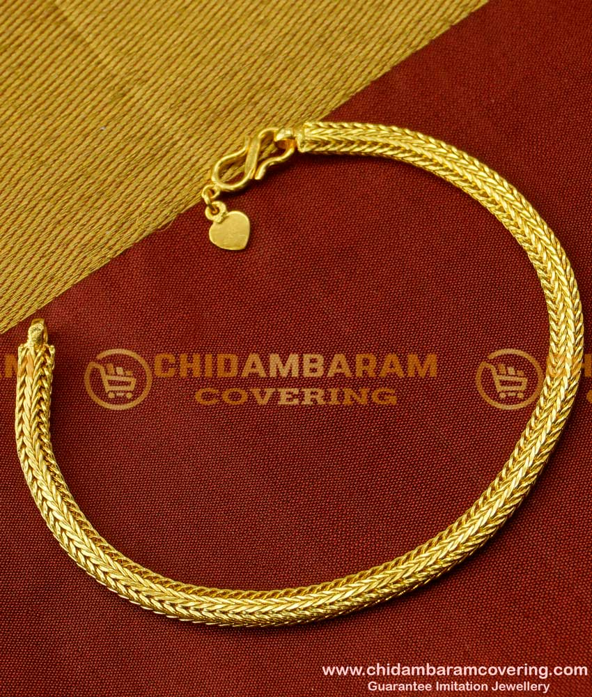 BCT19 - 1 Gram Gold Chain Hand Bracelet for Men Low Price Buy Online