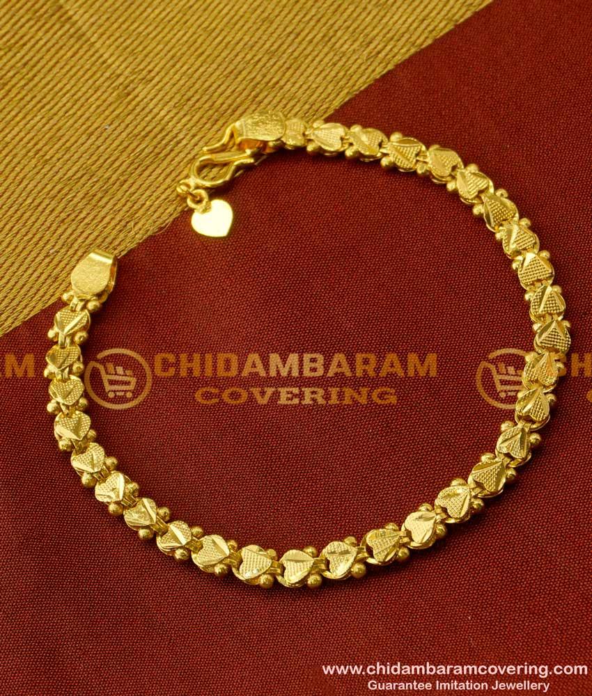 BCT20 - Women's Gold Plated Heart Link Design Bracelet Buy Online