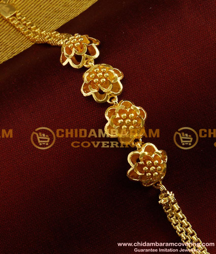 BCT37 - Pure Gold Plated Attractive Flower Design Low Price Bracelet Buy Online