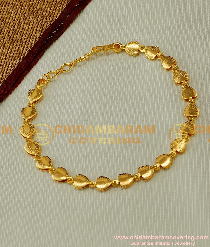 BCT42 - Beautiful Gold Inspired Designer Heart Shaped Bracelet for Girls