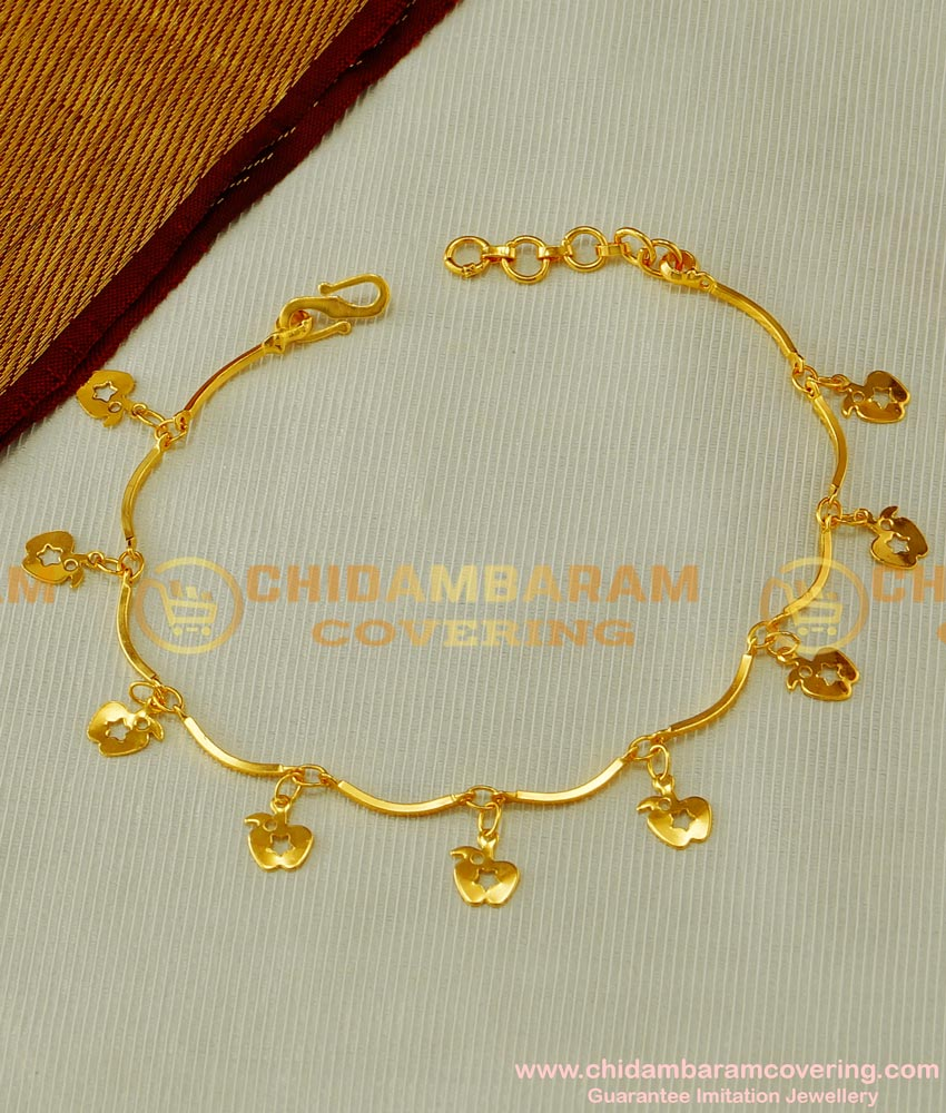 BCT44 - Latest Collection Hanging Apple Designs Bracelet Imitation Jewelry Online