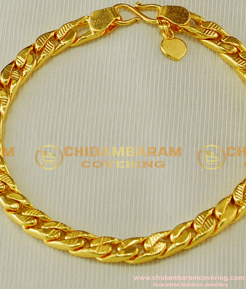 BCT56 - Gold Plated Link Chain Bracelet for Men & Women At Low Price Buy Online