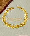 BCT60 - Attractive White Stone Golden Apple Design Low Price Bracelet Buy Online