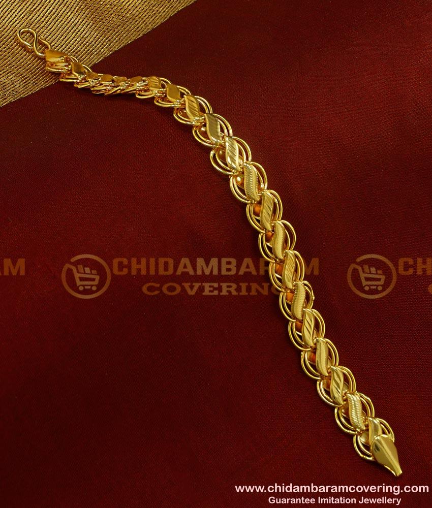 BCT65 - New Style Light Weight Modern Men Gold Bracelet Design Guaranteed Jewellery