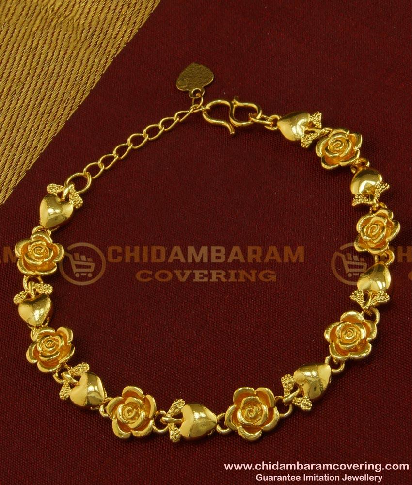 BCT91 - Most Beautiful Rose Flower Design Bracelet Latest Indian Jewelry Online