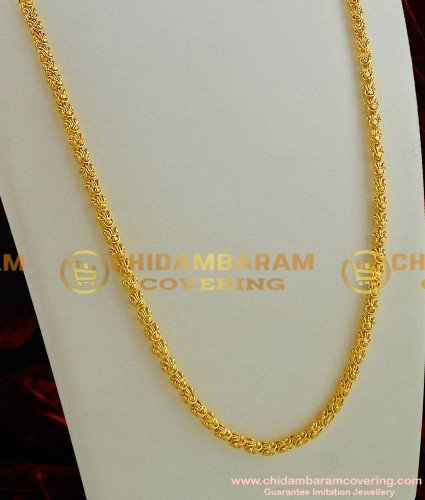 CHN001 - Gold Plated Dasavatharam Design Flexible Cutting Daily Wear Imitation Chain