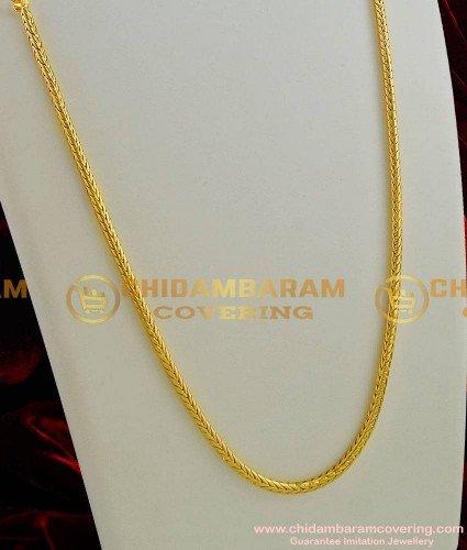 CHN003-LG - 30 inches Gold Plated Thirumangalyam Kodi (Nantha Saradu) Knitted Design Chain