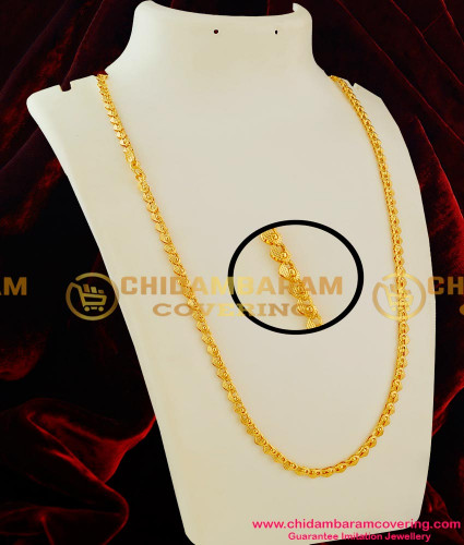 CHN012 - Latest Kerala Chain Heartin with Golden Ball Design Daily Wear Collection