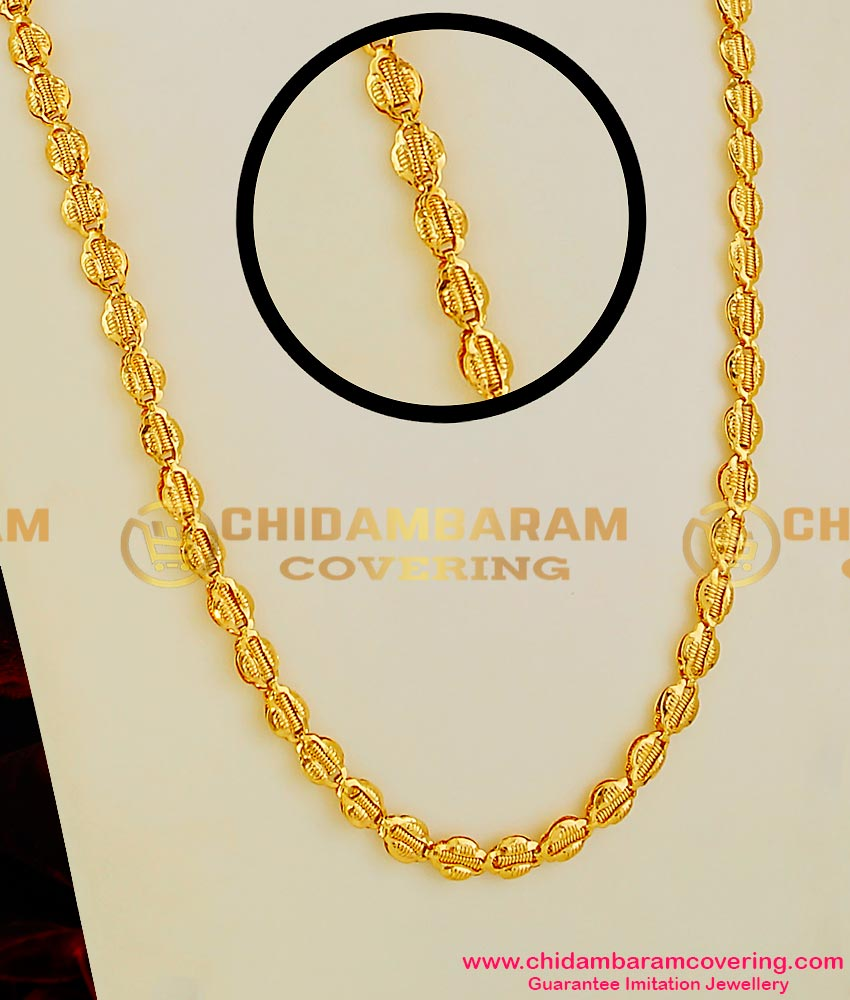 CHN015 - Thick Link Butterfly Interlocked Spring Design Long Chain Guarantee Jewellery Online