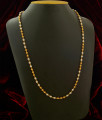 CHN031 - Stylish Gold Plated Pearl and Gold Balls Chain Designs Online
