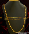 CHN049-LG - 30 Inches Long Chain Diamond Cut Gold Plated Chain for Female