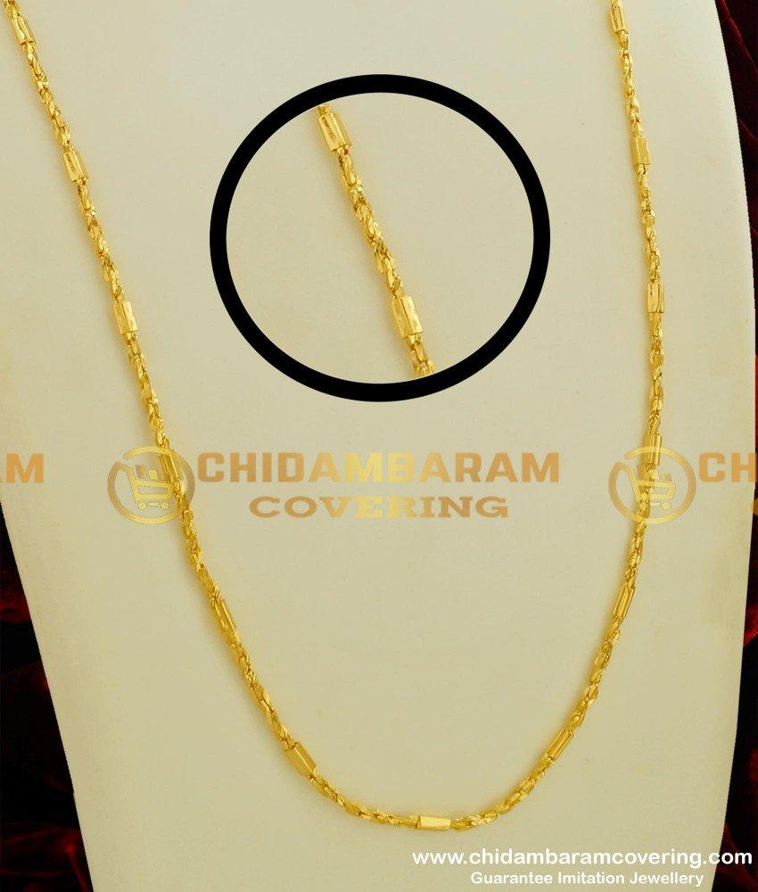 CHN061 - Gold Look Kerala Chain Guarantee Chain Buy Online Shopping