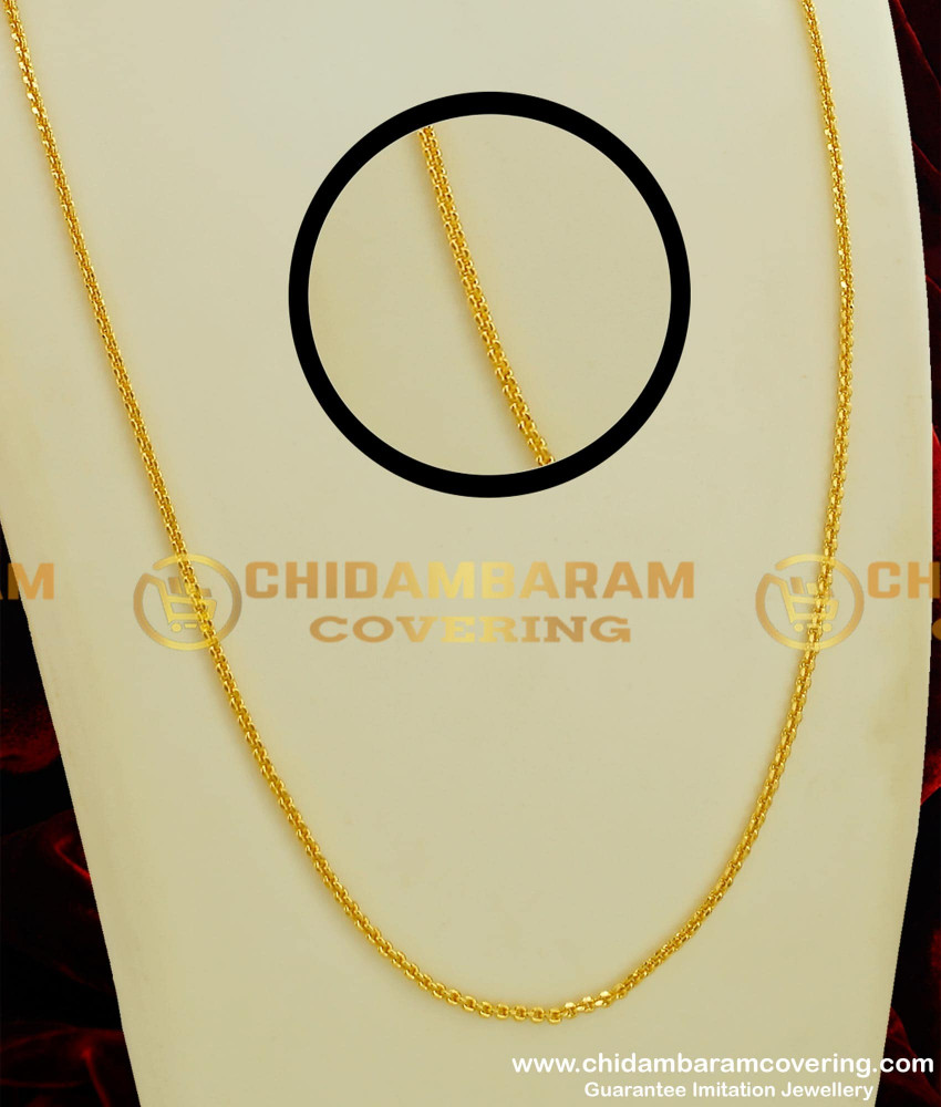 CHN062 - Light Weight Daily Wear Thin Gold Chain Look Guarantee Chain Online