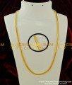 CHN081 - LG 30 Inches Traditional Gold Design Pure Gold Plated Thali Saradu Square Chain | Box Chain Online