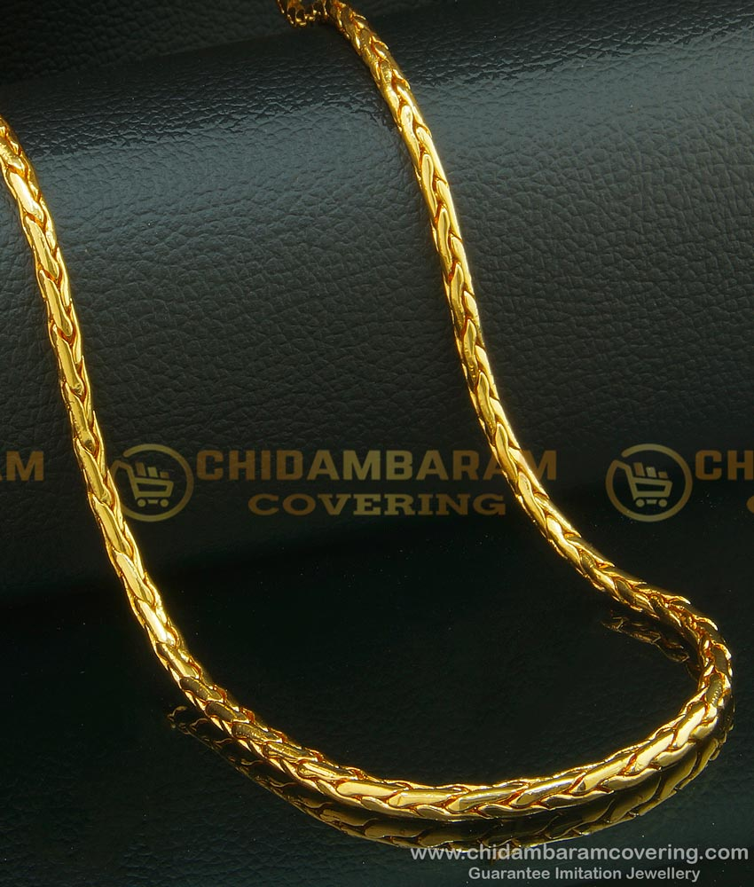 CHN094 - 24 Inches Traditional Round Chain Design Gold Plated Long Chain for Ladies