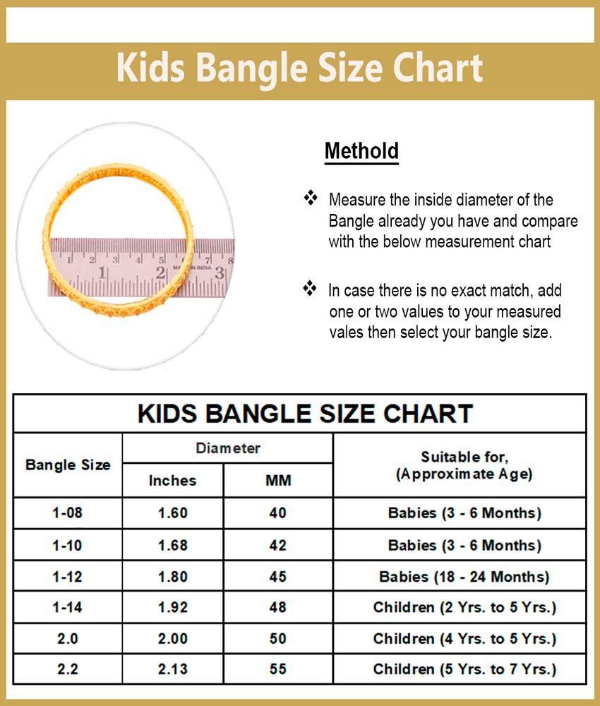 KBL016 - 1.12 Size Gold Design Gold Plated Bangles for Baby Girl