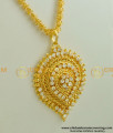 DCHN005 - Trichy Imitation Jewellery Jasmine Chain with Oval Shape AD Stone Dollar