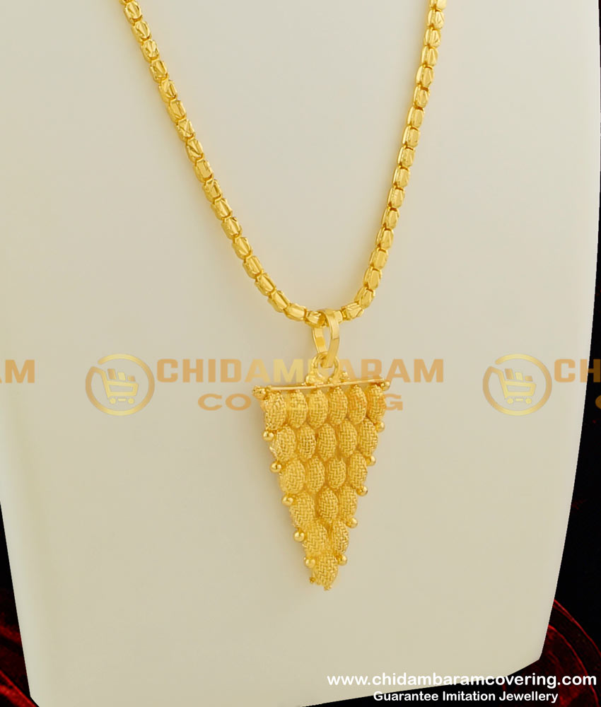 DCHN027 – Trendy Grapes Shaped Small Pendant with Beautiful Box Chain