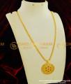 DCHN059 - Unique Designer Party Wear Round Shape Stone Pendant with Chain Online
