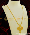 DCHN061 - Fashionable Single Stone Pendant with Long Chain for Kurti & Tops