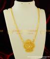 DCHN075 - Latest Single AD Stone Pendant Flower Design Dollar Chain for Women